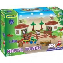 Игровой набор детский Wader Ранчо с дорогой 1,6 м и фигурками (403)