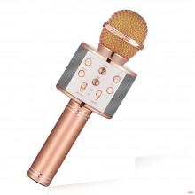 Микрофон беспроводной для караоке Wster WS858 Original Pink (297)