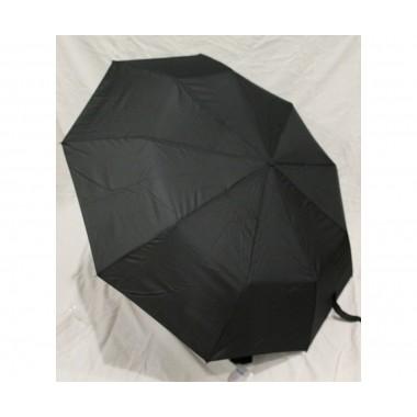 Зонт мужской полуавтомат Антиветер 3 сложения Mario Черный