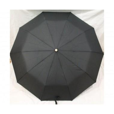 Зонт складной мужской полуавтомат Антиветер Bellisimo Черный