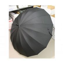 Большой зонт трость 16 спиц полуавтомат Max Comfort Купол 125 см Черный в чехле