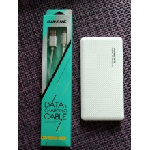 Зарядное устройство для портативной техники на 2 USB порта  PowerBank Pineng PN-958 на 10000 мАч Белый