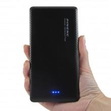 Зарядное устройство Повербанк с двумя USB портами для смартфона PowerBank Pineng PN-958 на 10000 мАч Чёрный