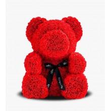 Мишка из роз Teddy Bear 40 cм в подарочной упаковке Оригинал Красный (1014)