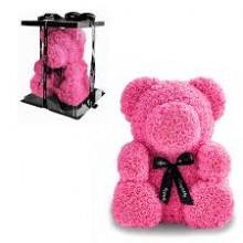 Мишка из роз Teddy Bear 40 cм + подарочная упаковка Оригинал Розовый (1012)