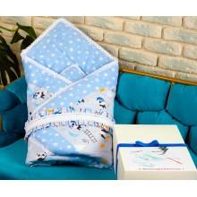 Набор для новорожденных BeniLo с конвертом на выписку Голубой (0095)