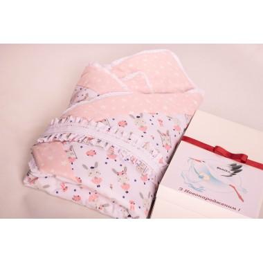 Конверт-одеяло для новорожденных BeniLo на выписку Розовый (0094к)