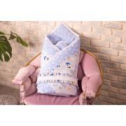 Конверт-одеяло для новорожденных BeniLo на выписку Голубой (0095к)